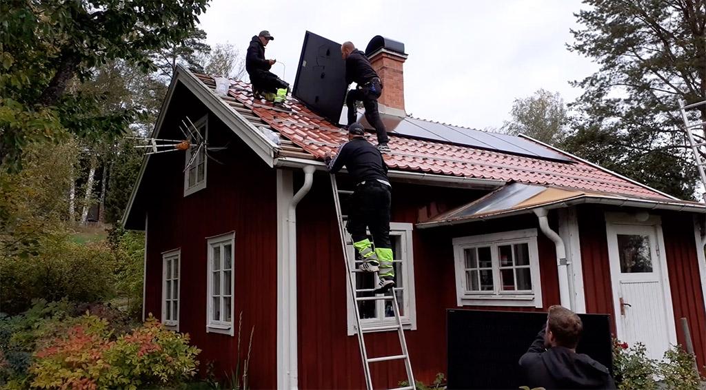 Egenproducerad solel. Foto: Torbjörn Sassersson