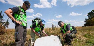 Investigation of the crash site of MH-17. Foto: Defensie.nl