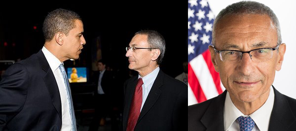 John Podesta och Barack Obama