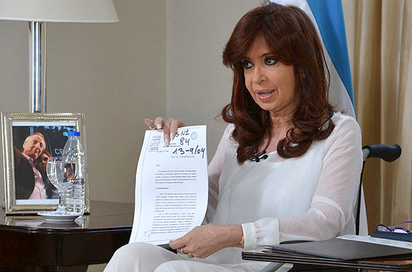 Foto: Presidencia de la Nación - Cristina Kirchner announces the bill to dissolve the Secretariat of Intelligence.