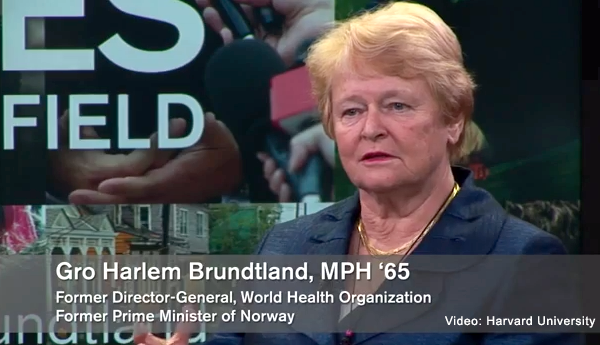 Gro Harlem Brundtland - Video: Harvard University
