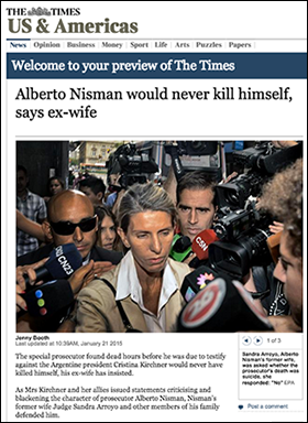Alberto Nisman would never kill himself