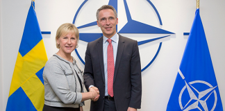 The Minister of Foreign Affairs of Sweden visits NATO | Press photo: NATO
