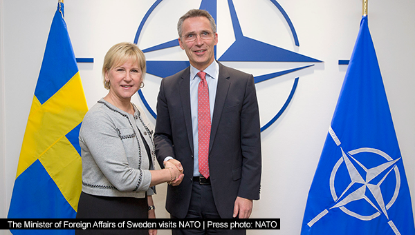 The Minister of Foreign Affairs of Sweden visits NATO |Press photo: NATO