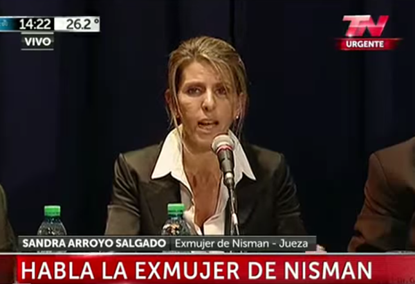 Sandra Arroyo Salgado - Video: TN Urgente