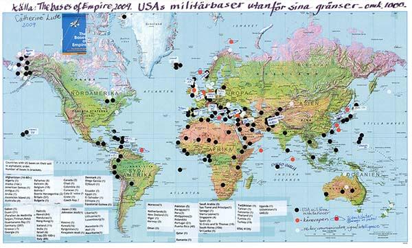 USA militärbaser - Karta: Agneta Norberg 600px