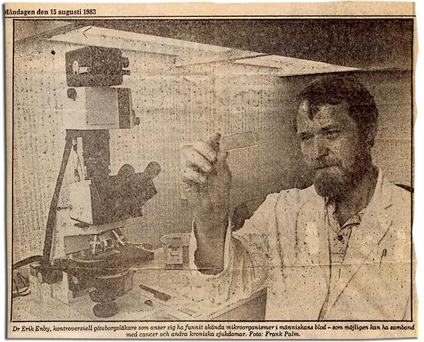 Dr Erik Enby - Foto: Frank Palm Göteborgsposten 1983-08-15