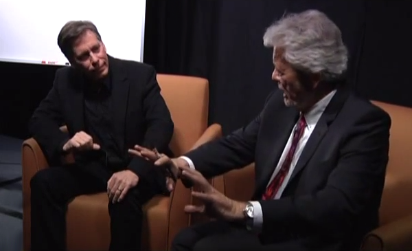 George Knapp intervjuar Bob Lazar 2015 - Foto: Paul Pope