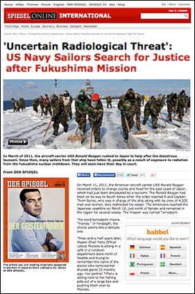 US Sailors Fukushima - Spiegel Online