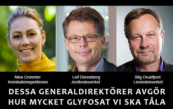 Generaldirektörer för svensk mat och glyfosat